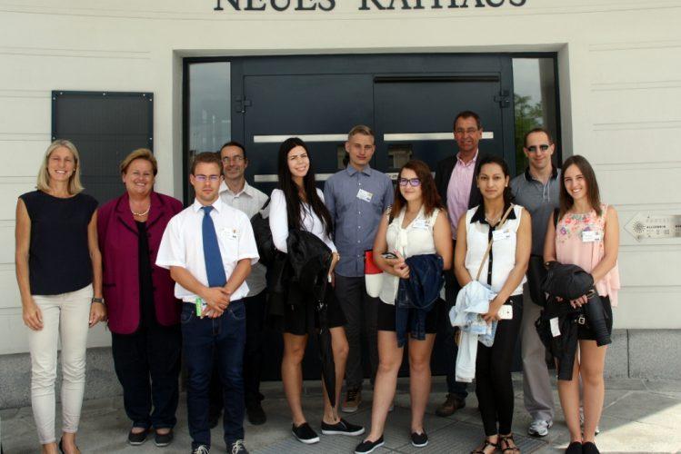 Empfang der ungarischen Austauschschüler der Fachoberschule